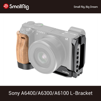 SmallRig A6400 L-Bracket Plate With Wooden Handle for Sony A6400/A6300/A6100 Arca-Swiss Standard L Plate Mounting Plate - 2331 - discount item 40% OFF Consumer Electronics