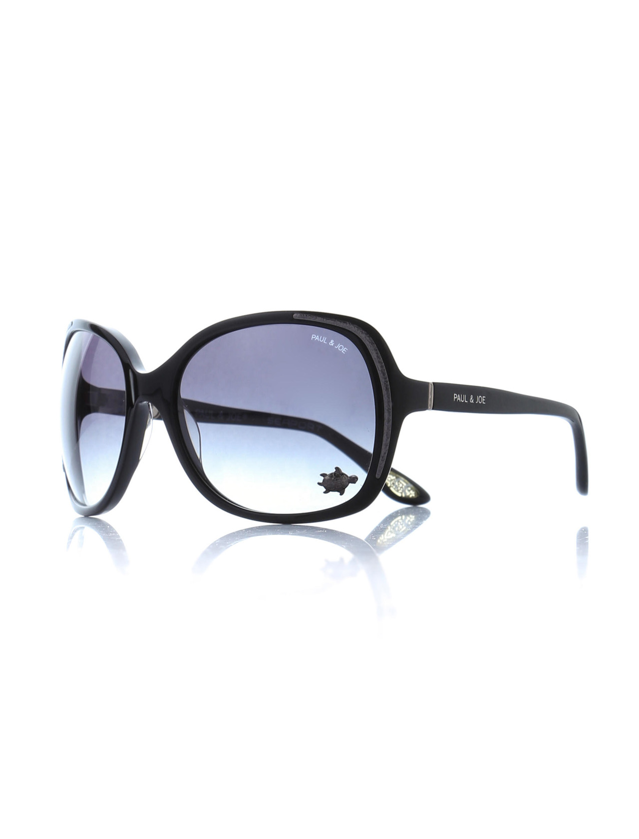 Women's sunglasses pj matura 02 no00 bone black organic oval aval 61-18-125 paul / joe