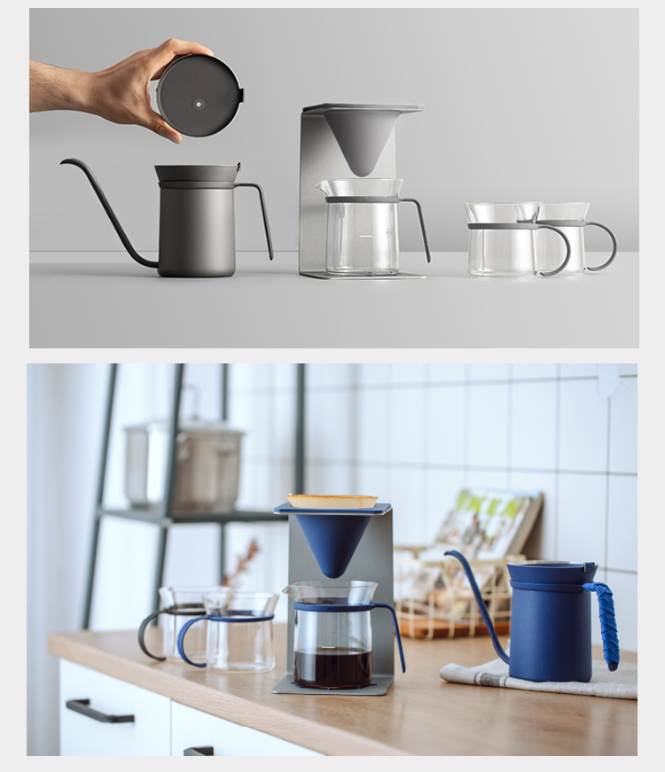 High Quality Minimalist V60 Coffee Pot Hand Brewing Pots Coffee Maker Set Gift Box Pour Over Coffee Kettle Pot Dripper Stand Cup Coffee Pots Aliexpress