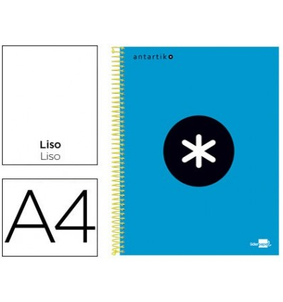 SPIRAL NOTEBOOK LEADERPAPER A4 MICRO ANTARTIK LINED TOP 120H 100 GR WITH BANDS 4 HOLES BLUE COLOR