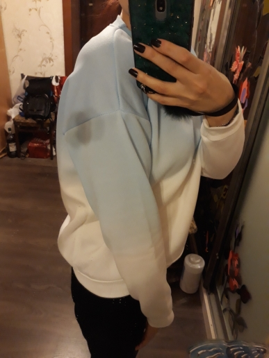 Fall Winter Fashion Cool Gradient Hit Color Women Hoodies Sweatshirt Street Full Sleeve Loose M Xxl Tracksuits Female photo review
