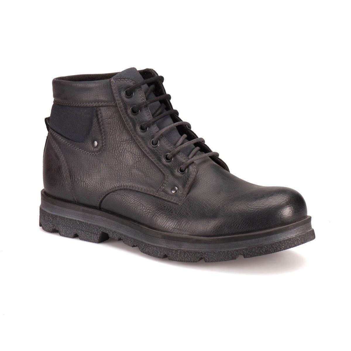 FLO A162000421 Black Men Boots Forester