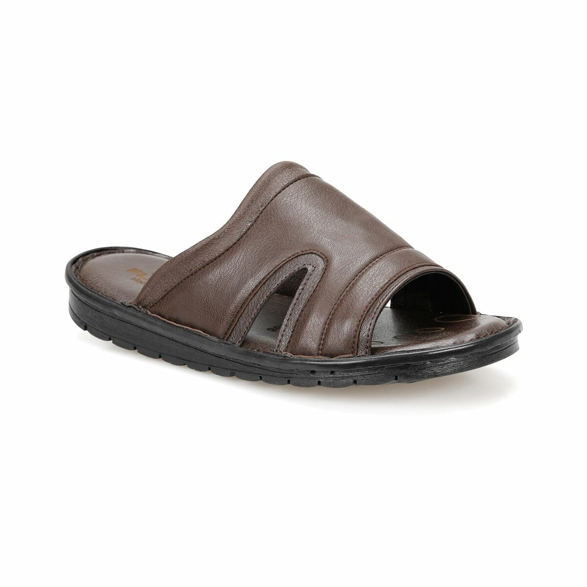 FLO 106 Brown Mens Slippers Flexall