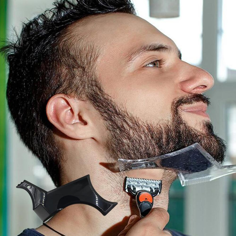 Mega Sale 4c1b Fashion Beard Styling Template Comb New Barber Tool Mustache Symmetry Trimming Styling Stencil 3 Colors Optional Cicig Co