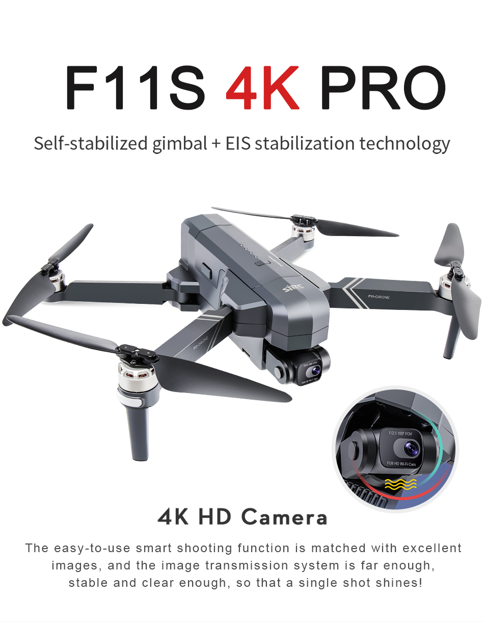 U665343cfc60e4fa794ee1269cea640c6A - NEW SJRC F11S 4K PRO Video Camera Drone Professional GPS 2Axis Mechanical EIS Gimbal Quadcopter Brushless Dron Max Flight RC 3KM