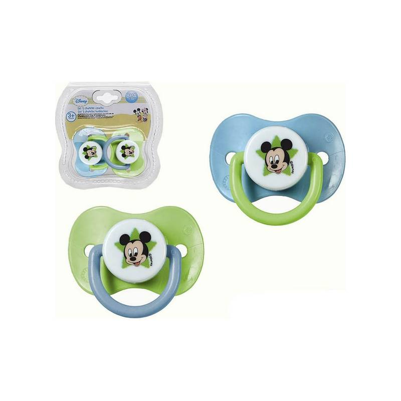 Set Of Pacifiers Rubber Mickey Mouse Disney + 3M 119063 (2 Pcs)