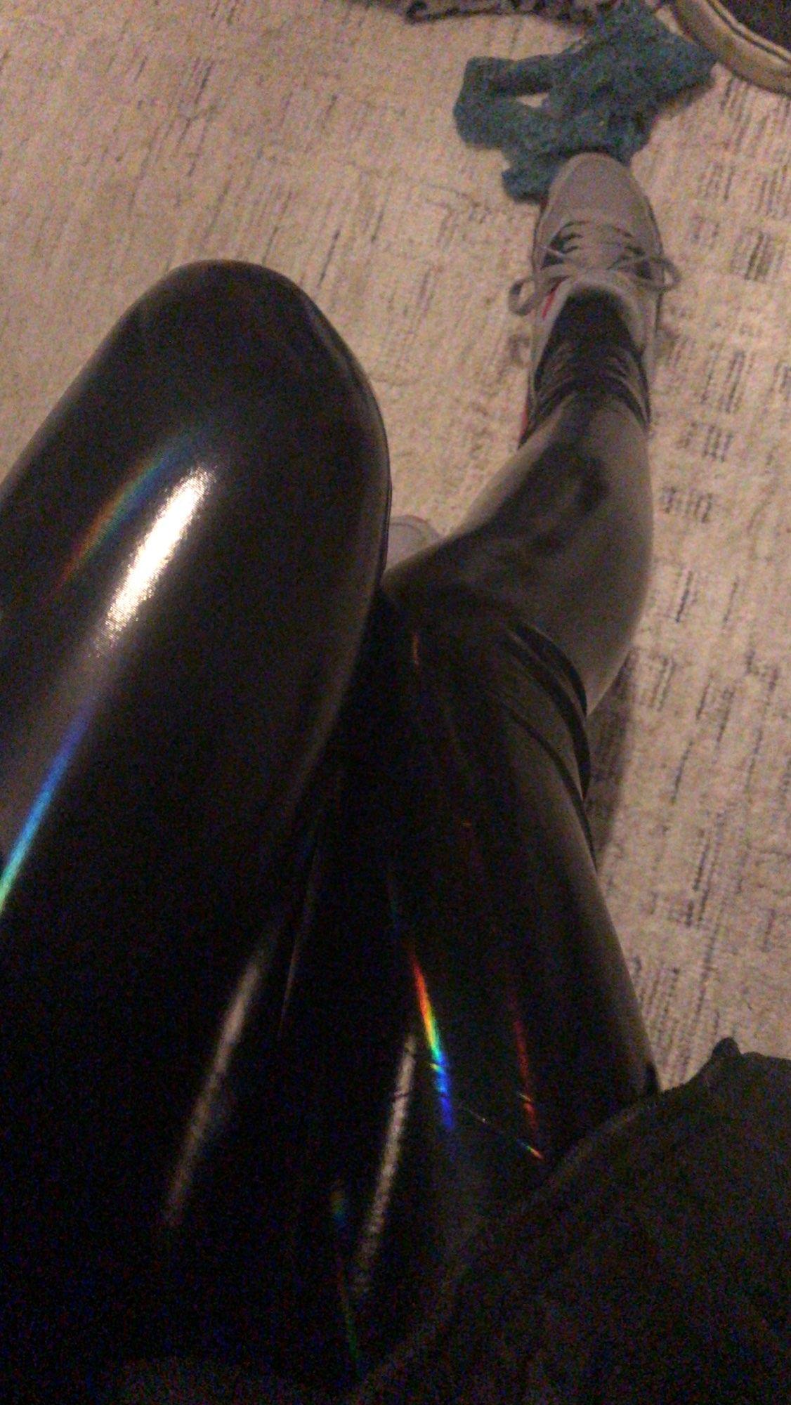 PU Leather Black Skinny Leggings photo review