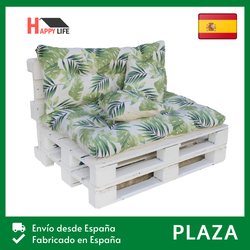 [Spain] cushions for pallets/Mattress y Respaldo + 2 cushions/seat pallet for Garden, terrace, Patio, Lounge and balcony/5 tones