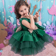 Toddler Baptism Sequin Bow Baby Girl Dress Kids 1st Birthday Party Wedding Dress Palace Evening Christmas Princess Dress 3M-5T Y