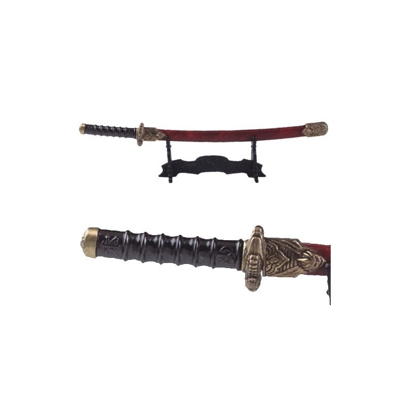 Katana Letter Opener With Scabbard And Stand