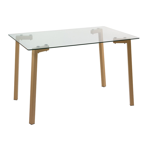Desk (120 X 75 X 80 Cm) Tempered Glass Steel