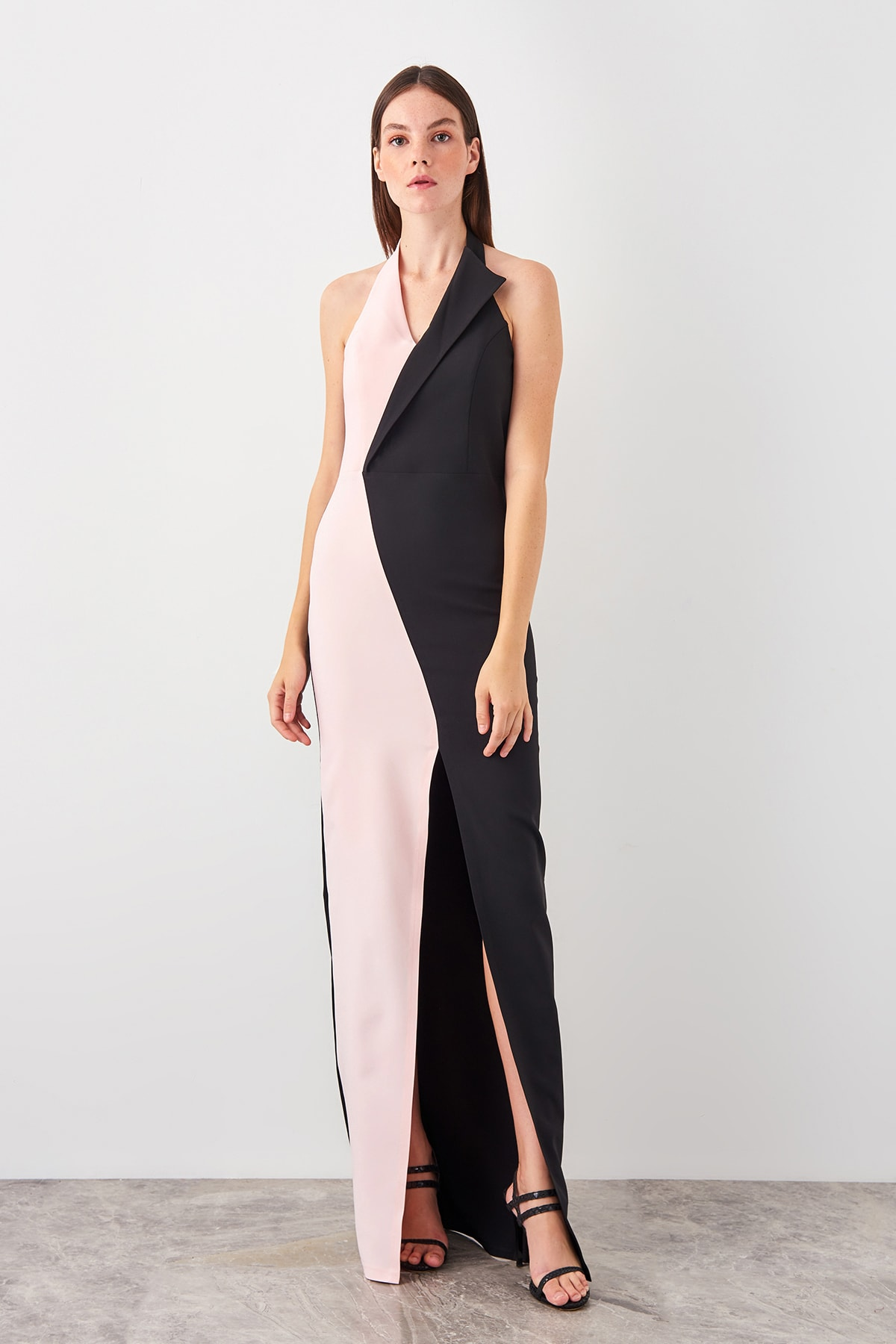 Trendyol With Color Block Evening Dress TPRSS19AE0029