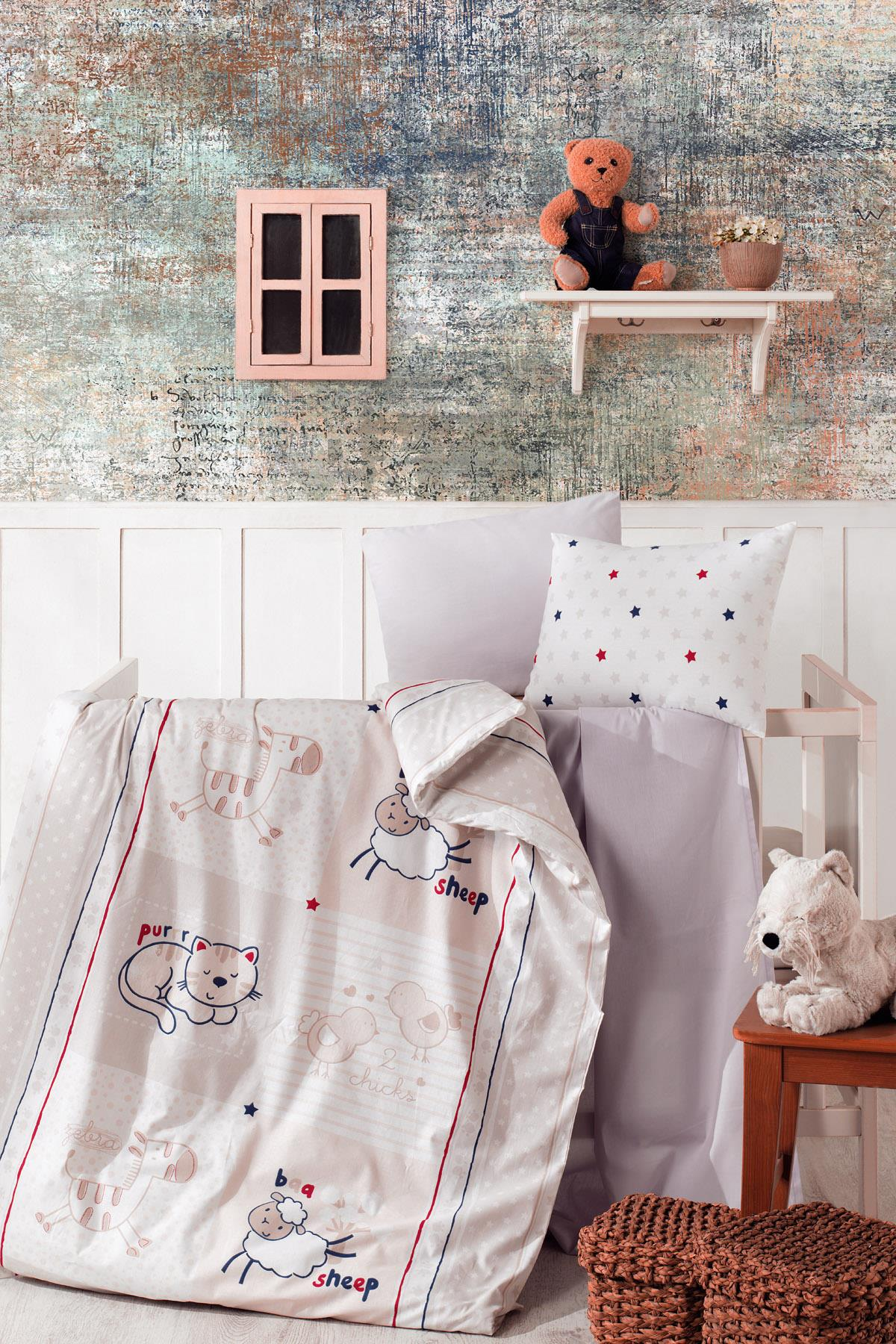 Baby Bed Set Hundred Percent Cotton | Animals