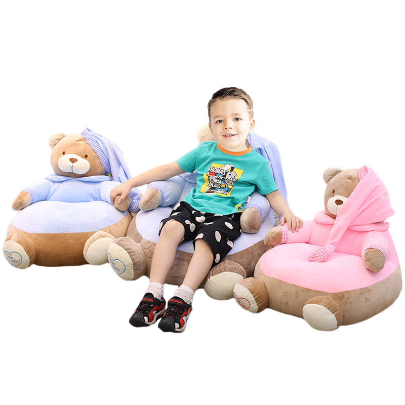 Comfortable and Soft Cartoon Bear Sofa Lazy Sleeping Bed for Kids Baby Stuffed Animals Sofa Pet Supply Birthday Xmas Gifts