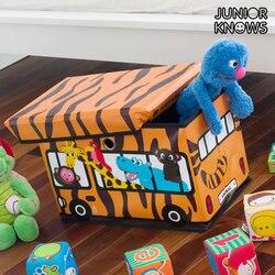 Autobus Junior wie składana skrzynka na zabawki w Składane torby do przechowywania od Dom i ogród na