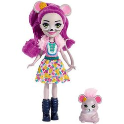 Boneca com o seu animal favorito Enchantimals, Maila Mouse & Conjunto Fondue