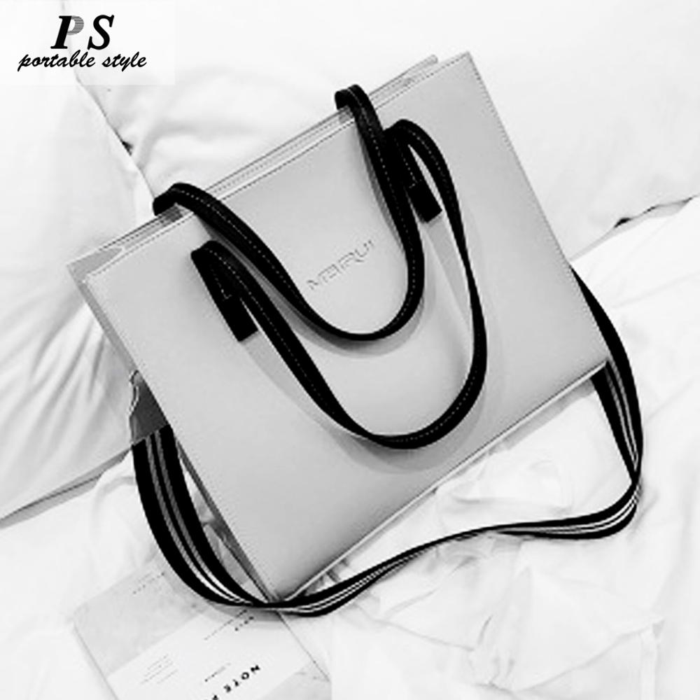 Female Large-capacity Bag 2019 New Oblique Korean Version Of The Simple Fashion Shoulder Bag Can Be Loaded A4 Textbook Crossbody