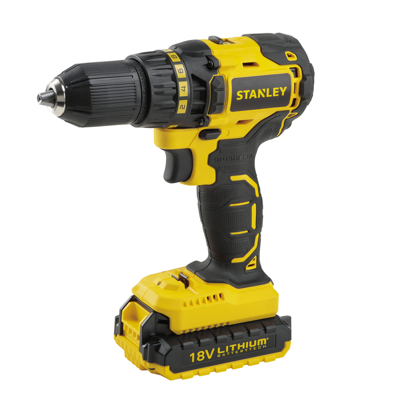 Drill-screwdriver rechargeable Stanley SBD20S2K (Brushless motor, Li-ion 18 V 1,5 Ah 2 speed)