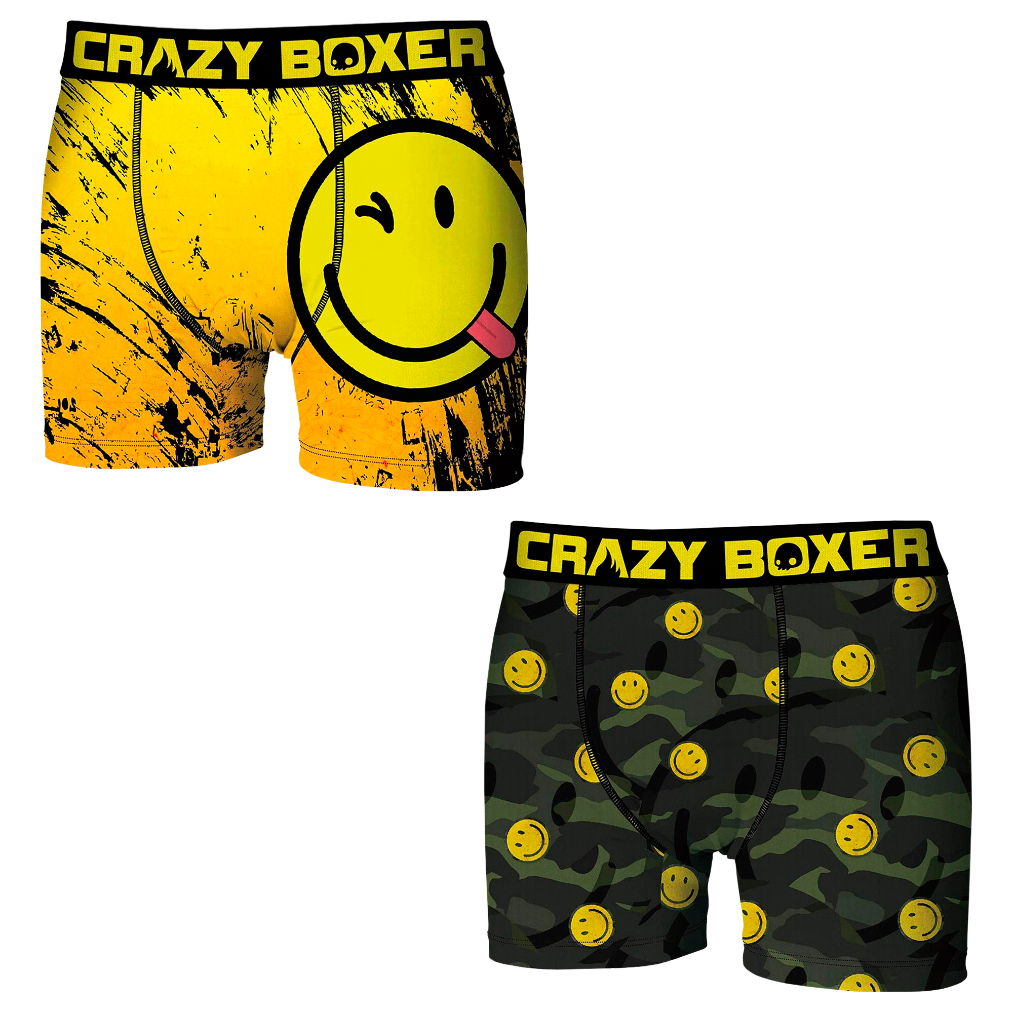 CRAZY BOXERS EMOJI BOXERS Stampings Pack 2 Units Or Single Type Boxer For Men