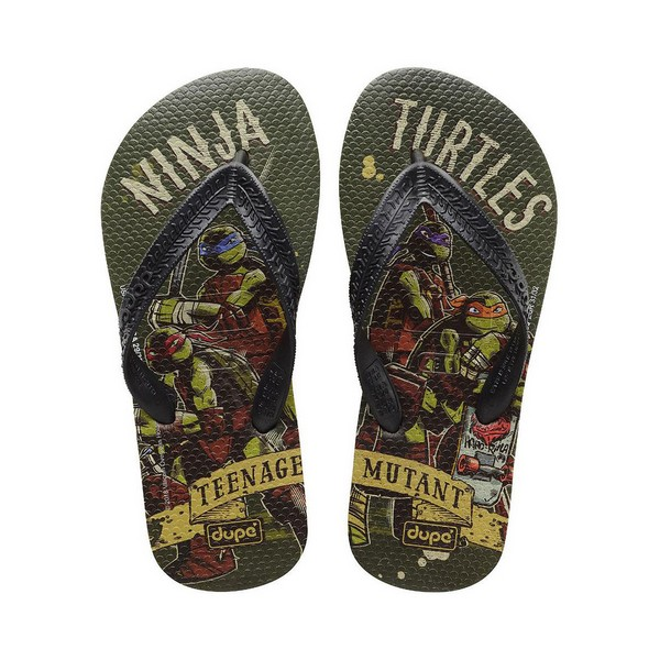 Flip Flops For Children Dupé Teenage Mutant Ninja Turtles Green