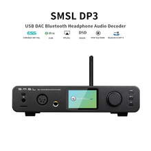 SMSL DP3 USB DAC Bluetooth Headphone Audio Decoder ES9018Q2C Hifi Bluetooth Dac Audio Amplifier Balanced DSD Digital Player Amp lusya bluetooth 5 0 qcc3003 wireless receiver ess9023 dac decoder hifi preamplifier lossless bluetooth adapter t0014