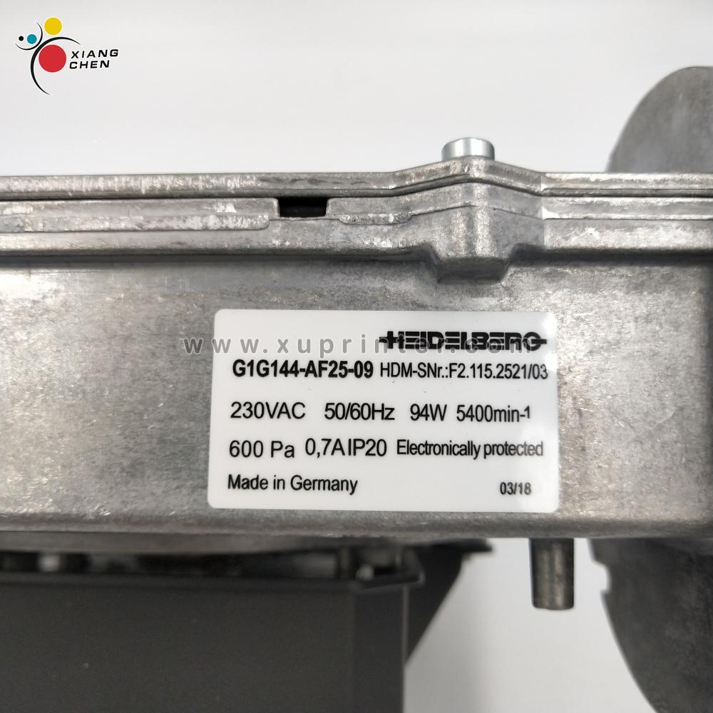 Original Factory F2 115 2521 03 Blower G1G144 AF25 09 SM74 CD74 Machine Blower HEID Offset