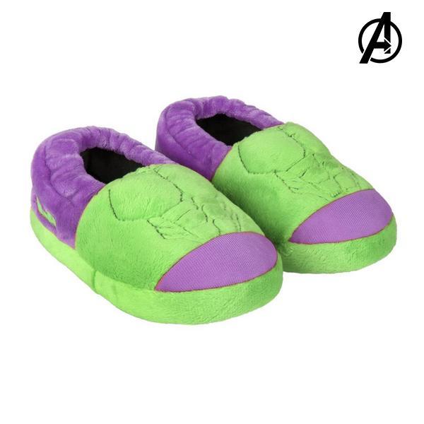 3D House Slippers Hulk The Avengers 73372 Green