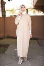 Butik Melike prążkowana dzianina sukienka 2021 nowości hidżab abaya moda muzułmańska zestawy islamska odzież modlitewna odzież