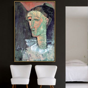 Amedeo Clemente Modigliani Old Famous Master Artist Pierrot Canvas Painting Poster Print for Living Room Wall Decor Wall Art image