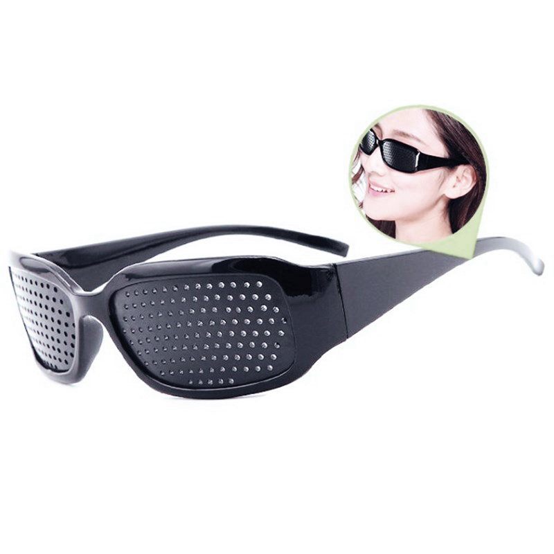 Motorcycle Sunglasses  Pin Hole Eye Training Glass Pinhole Glasses Camping Unisex Eyeglasses Exercise Outdoor Sport Eyesight Pro