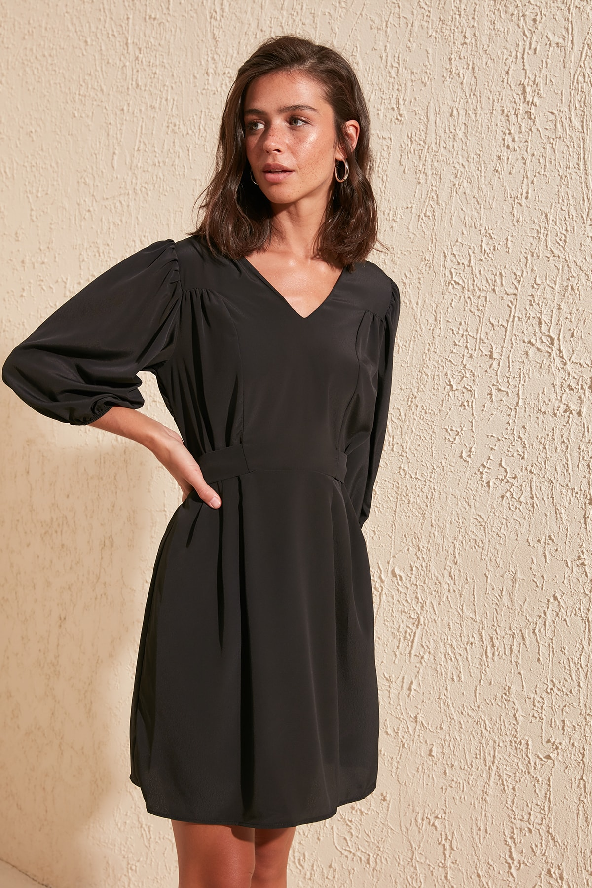 Trendyol Girdle Detail Dress TWOSS20EL2143