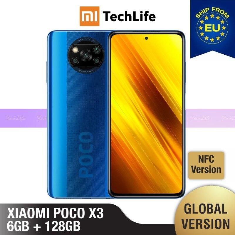 [Глобальная версия] POCO X3 6 ГБ Оперативная память 128 Гб Встроенная память (Фирменная Новинка/герметичные) NFC , pocox3, poco, 128, мобильный телефон