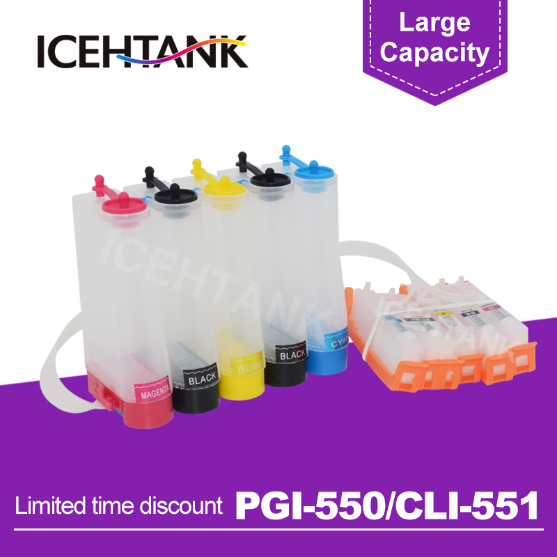 ICEHTANK PGI 550 CLI 551 Continuous Ink Tank For <font><b>Canon</b></font> PIXMA MG5450 MG5550 MG5650 MG6350 <font><b>MG6450</b></font> MG6650 MG7150 Printer image