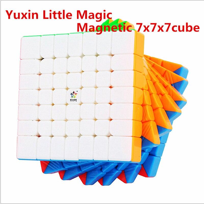 Yuxin Little Magic M 7x7x7 Magnetic Speed Cube Little Magic Magnetic 7x7 Magic Cube Zhisheng 7x7 Puzzle Magic Cubo 7x7 Cube