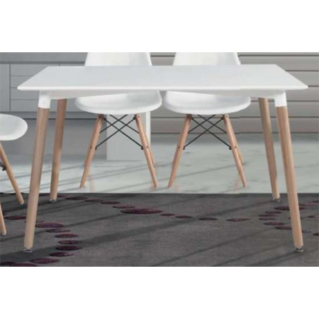 Dining Table Modern White Lid Legs Has