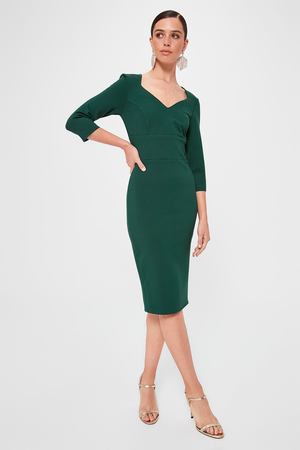 Trendyol Double Breasted Collar Dress TPRAW20EL1410