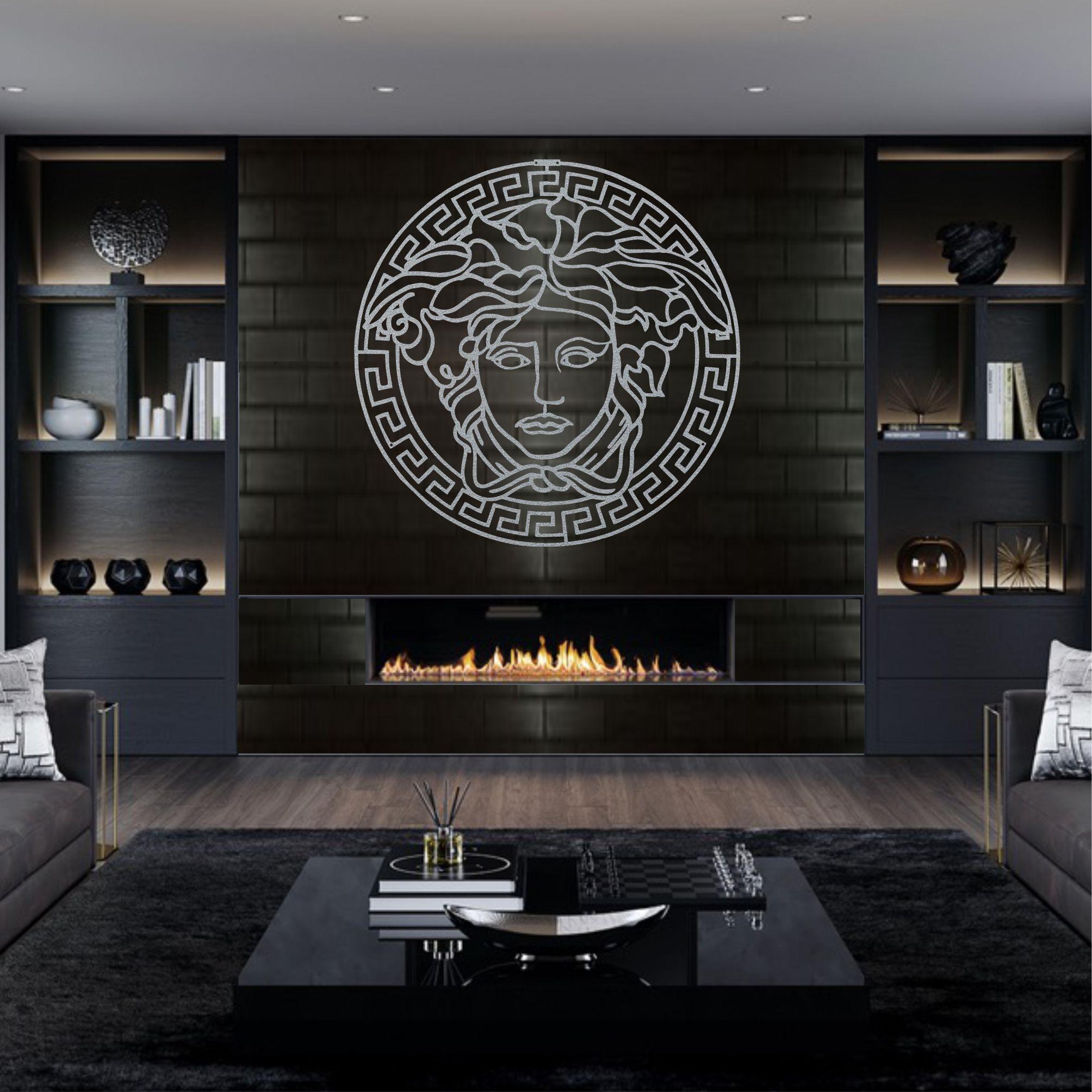 Office-Decoration Wall-Decor Mythology-Art Medusa Art Greek Bedroom Metal Home