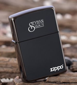 Personalized Custom Original Zippo Ebony Cigarette Lighter