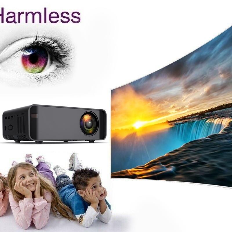 Unic w80 led completo hd 1080 p 3000lm projetor 4 k wifi hdmi usb bluetooth lcd de cinema em casa media player android beamer telefone sincronização - 4