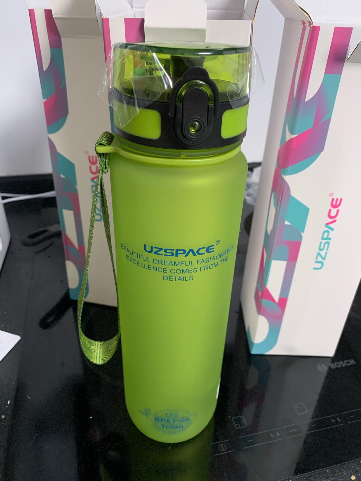 UZSPACE Sport Water Bottle 500/1000ML Portable Leakproof Outdoor Shaker My Bottle Tritan Plastic Eco Friendly Drinkware BPA Free drink bottle my water bottlesports water bottle - AliExpress