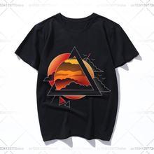 Футболка с треугольным принтом sundown и надписью модная новинка