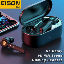 EISON Wireless Headphones Bluetooth Earphones No Delay Gaming Headsets With Microphone Noise Cancelling Earbuds for All Phone