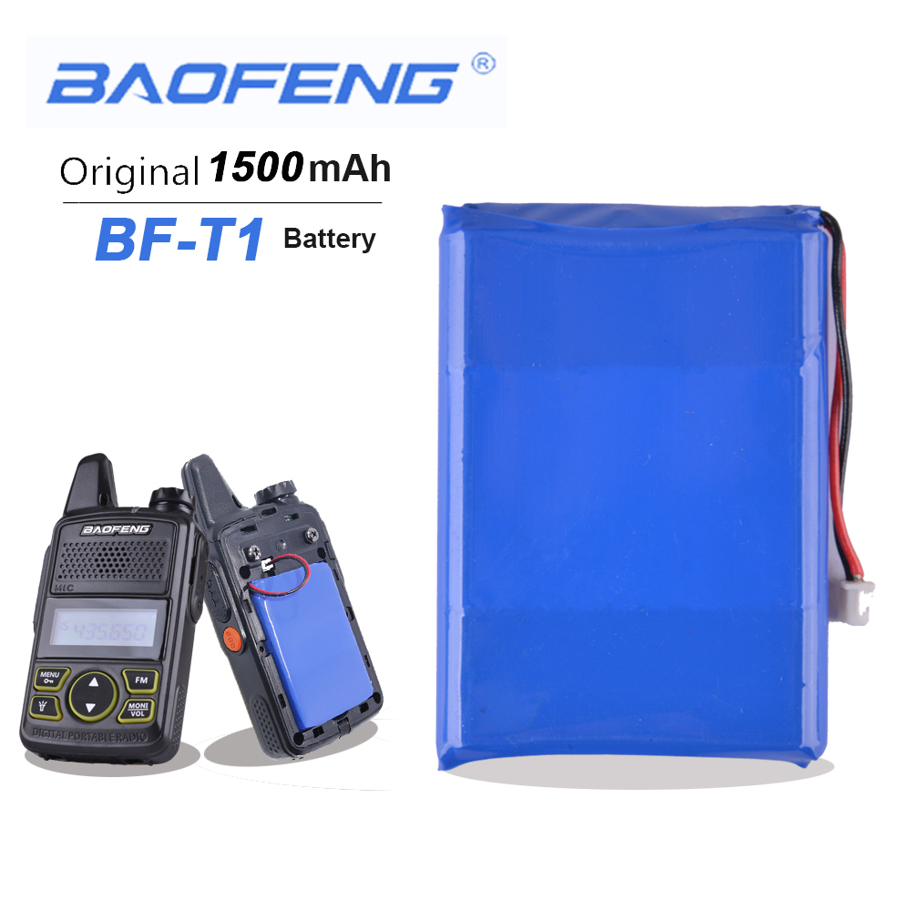 Baofeng BF-T1 3.7V 1500mAh Li-ion Battery For Baofeng BFT1 Walkie Talkie BF T1 Mini Ham Radio Two Way Radio Baofeng Accessories