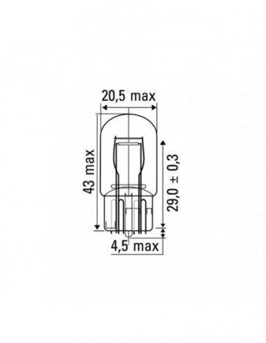 JBM 52864 LAMP OBN WEDGE 21/5W 12V T20