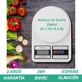 Bascula cocina peso balanza digital de 1 Grs a 5кг Blanco con 2 Pilas AA Gramera pesas кухонные весы AliExpress PlazaSpain