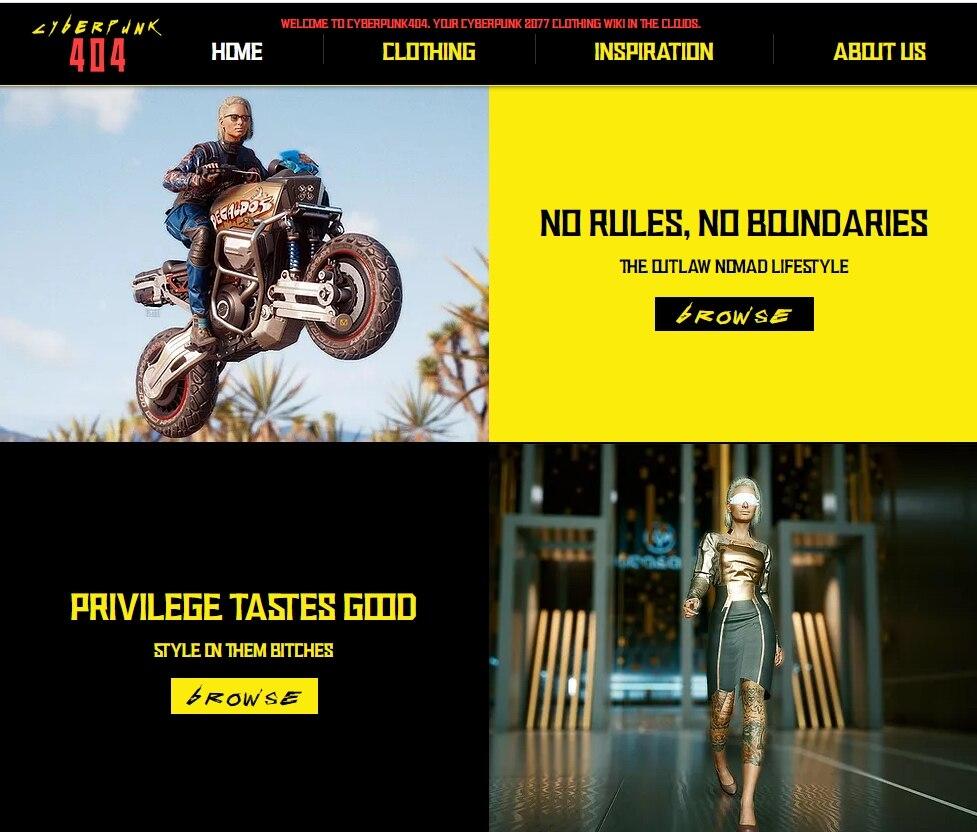 《赛博朋克2077》不能预览服装 粉丝制网站方便看效果