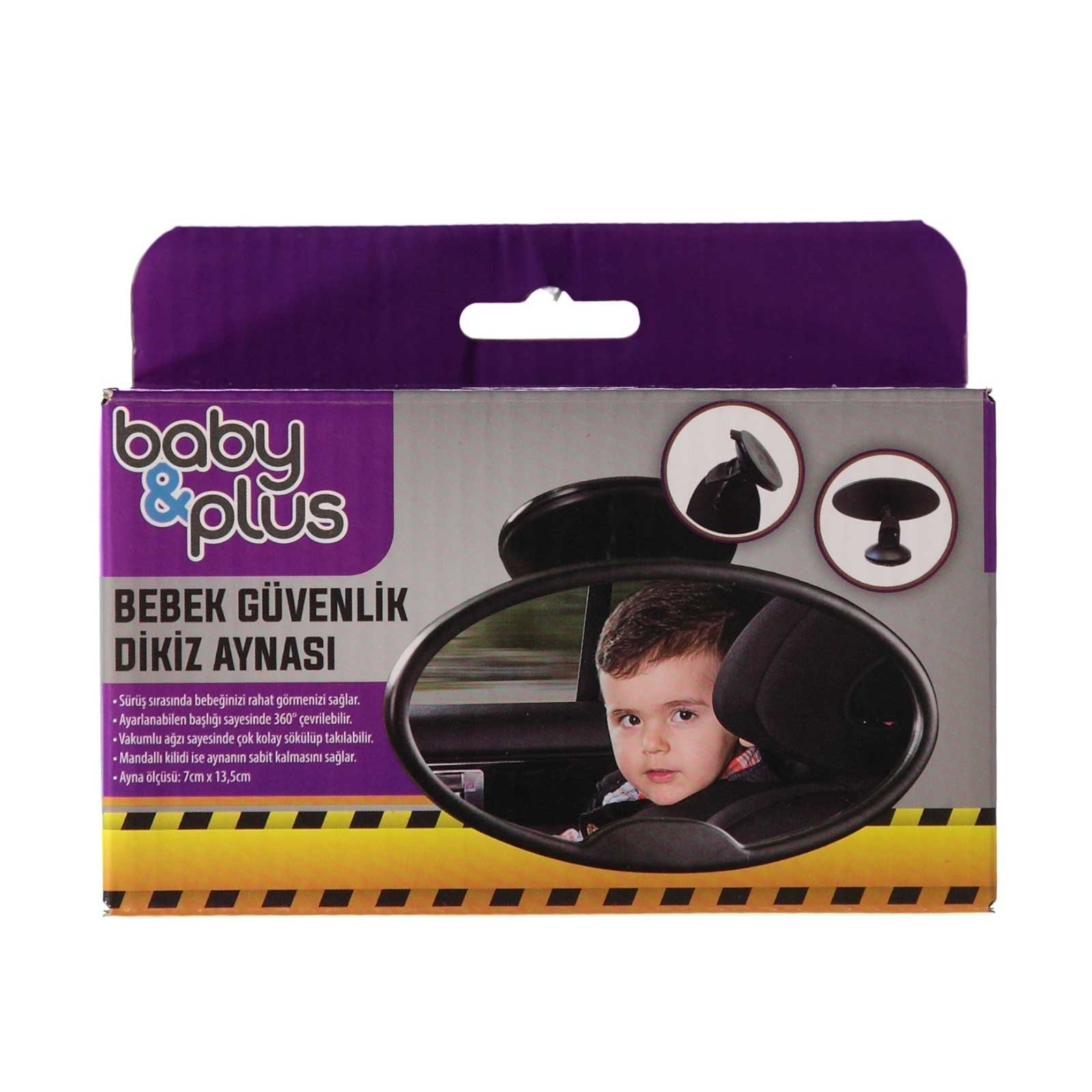 Ebebek Baby&plus Baby Safety Rear Mirror 7x135 Cm
