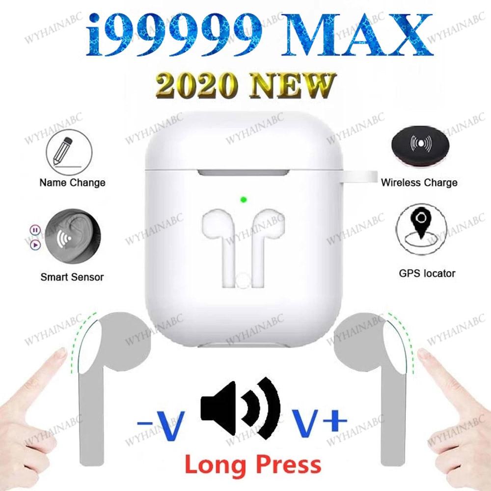 Беспроводные наушники i99999 Max, TWS наушники с переменным названием, Bluetooth 5,0, управление громкостью, супер бас, наушники PK i90000 TWS i90000 Max Air2