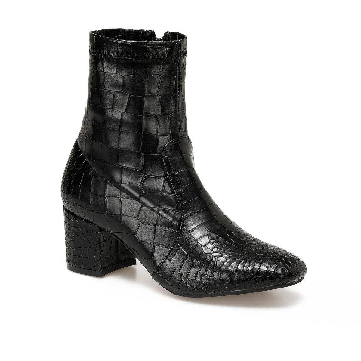 FLO LUSİ Black Female High-Heeled Boots BUTIGO