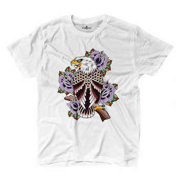 Camiseta camisetas tatuajes tatuaje tinta vieja escuela águila Rosa S W
